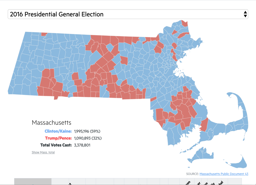 Map: How Your Mass. City Or Town Voted In Dozens Of Recent Elections