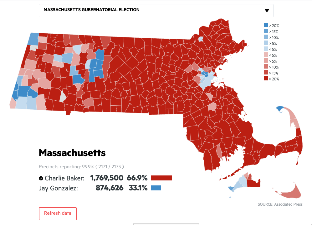2018 Mass. Election Results: How Your Town Or City Voted